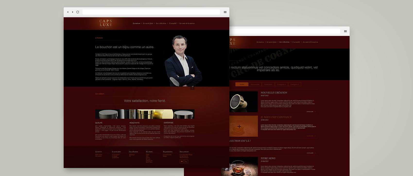 CAPSLUXE SITE WEB